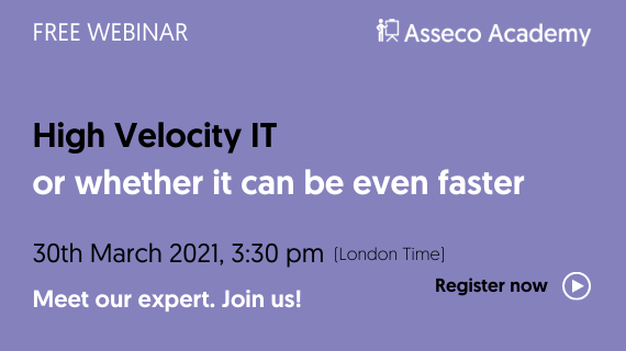 High Velocity IT, or whether it can be even faster management?